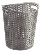 Curver My Style 00714-087-00 Waste Paper Bin, 12 Litre, Silver