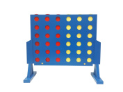Funmate Deluxe Giant Wooden 4 in A Row Game,Connect 4 Connect Four Line Up 4 In A Row Four In A Line Board Game