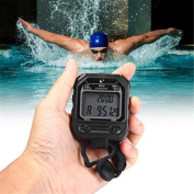 Cuzit PC70 Stopwatch Handheld 2 Rows 30 Memories Stopwatch Sports Timer LCD Electronic Stopwatch with Alarm Calendar Function
