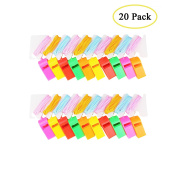 Boocy 20pcs Colourful Plastic Whistle For Referee Coach School Sports And Party