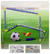 Kids Children Football Goal Post Net Ball With Pump Whistle Toy Indoor / Outdoor Soccer
