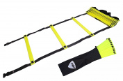 Pepup Unisex Premium Adjustable Speed and Agility Training Ladder, Yellow Fluorescent, 4 m