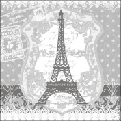 Ambiente Serviettes Lunch/Party/Celebration 33 x 33 cm Eiffel Tower. Perfect as a Gift