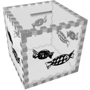 'Wrapped Sweets' Clear Money Box / Piggy Bank