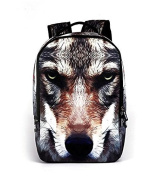 New high school students 3D trendy personality backpack, leisure outdoor male package , dog