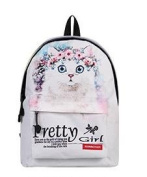 New high school students trend printing cartoon cat backpack travel bag , ch1505d4-35