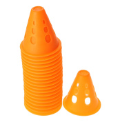 10/20pcs PVC Round Hole Windproof Slalom Cones for Roller Skating Training Traffic Markers