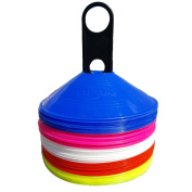 Lusum Set of 50 Sports Safety Space Marker Cones with Stand and Bag