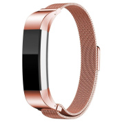 Fitbit Alta Band, Degbit® Fitbit Alta Wristband Metal Magnetic Milanese Loop Band, Adjustable Stainless Steel Sports Watch Band Strap, Replacement Accessories for Fitbit Alta Bracelet Bands