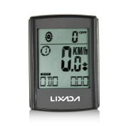 Cycle Computers, Lixada 3-in-1 Wireless Bike Computer for Tracking Riding Speed and Distance, Waterproof, Bicycle Computer with Large LCD Backlight and Cadence Heart Rate Monitor