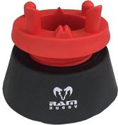 Ram Rugby Adjustable Kicking Tee - Red / Black - Screw Adjustment