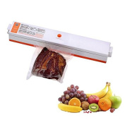 C & L Vacuum Sealer Machine Vacuum Sealing System 110V 100W Pack Bag Storage for Food Fruits Meat With 15 Packing Bags