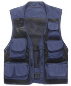 Outdoor Quick-Dry Fishing Vest; Marsway Multi Pockets Mesh Vest Fishing Hunting Waistcoat Travel Photography Jackets