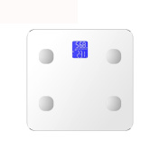 LCD Display Bluetooth Fat Scale Precision Intelligent Electronic Weight Scale,White