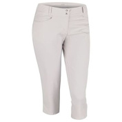 Adidas Golf Ladies Essentials Capri 2015 Lightweight Stretch Full Length With Belt Loops 2 Front And 2 Back Pockets Polyester in Pearl Grey XL