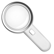 Fancii 5X High Power LED Magnifying Glass with Light, Large 8.9cm Distortion-Free Illuminated Magnifier with Glass Lens