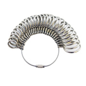 HOT SEAL Finger Sizer Measuring Ring Tool Ring Sizer Gauges, Size 1 - 13 with Half Size, 27 Pieces