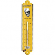 """Editions Clouet """"57177 - THERMOMETER 30x8 cm Banania Head Black and White"""""""