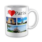 I Love PARIS Ceramic Novelty Gift Mug