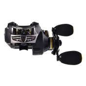 KastKing Stealth Baitcasting Reel - All Carbon Baitcaster Fishing Reel - 180ml Super Light Weight - 7.5kg Carbon Fibre Drag, 11 + 1 BB, Dual Brakes