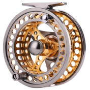 Fly Fishing Reel Large Arbour 2+1 BB with CNC-machined Aluminium Alloy Body and Spool in Fly Reel Sizes 5/6,7/8