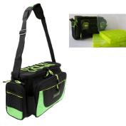 Jili Online Waterproof Outdoor Sports Fishing Tackle Bag Shoulder Bag with 2 Adjustable Fishing Lure Box