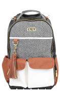 Itzy Ritzy Boss Backpack Nappy Bag Backpack in Coffee and Cream