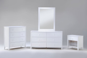 Night & Day Furniture Zest 4 Drawer Chest in White Finish