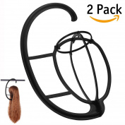 Dreamlover 2 Pack Wig Hanger, Portable Hanging Wig Stand for All Wigs and Hats, Collapsible Wig Dryer, Durable Wig Stand Tool Holder, Hat and Cap Holder