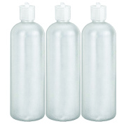 MoYo Natural Labs BPA Free HDPE Reusable Shampoo Bottle 950ml with Toggle Top Kitchen Dispenser 950ml Leak Proof Bottle Pack of 3