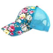 Sport Cap, HP95(TM) Women Flower Embroidery Cotton Baseball Cap Boys Girls Snapback Hip Hop Flat Hat