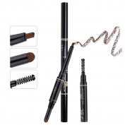 TC Joy 3 in 1 Automatic Eyebrow Pencil with Eyebrow Brush and Powder Natural Long-lasting Waterproof Coffee-#3