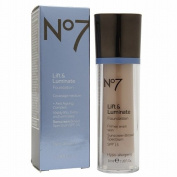 Boots No7 Lift & Luminate SPF15 Foundation, Cool Beige, 30ml