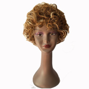 Y demand Fashion Short Blonde Kinky Curly Wigs Afro Hair Full New Synthetic For Black Women