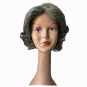 Y demand Fashion Dark Grey Ombre Wig False Hair Synthetic Wigs For Black Women Short BOB Wavy Afro Wig