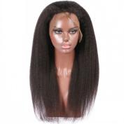FDshine Italian Yaki 360 Lace Frontal Closure with Baby Hair Brazilian Human Hair Kinky Straight for Black Woman