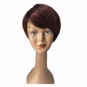 Y demand Fashion Short Wig Natural Hair Wine Red For Black Women