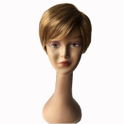 Y demand Pixie Cut Hair Short Blonde Wig Synthetic Full Wigs