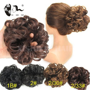 3Pcs/Lot Women's Messy Wavy Hair Bun Extension Elastic Hair Tie Hairpiece Wig Hair Ring