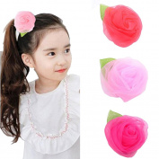 Lucky staryuan 4pcs Baby Girls Teens Hair Bows Clips Flower Barrettes