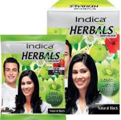 Indica Herbals Hair Colour Natural Black 8 Sachets Pack
