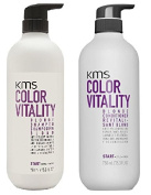 KMS Colour Vitality BLONDE Shampoo & BLONDE Conditioner 25 oz / 750ml LARGE DUO SET