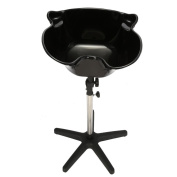 Anself Salon Portable Shampoo Sink Spa Deep Hair Shampoo Bowl Basin Adjustable Height Basin with Drain