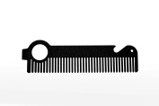 "The ""Beer'd Comb"" by HEIRCOMB Obsidian Black Hair & Beard Comb w/ Bottle Opener"