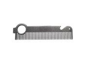 """The """"Beer'd Comb"""" by HEIRCOMB Gunmetal Grey Hair & Beard Comb w/ Bottle Opener"""