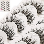 5 Pairs Beauty Makeup Handmade Long Natural Eye Lashes False Eyelashes Extension