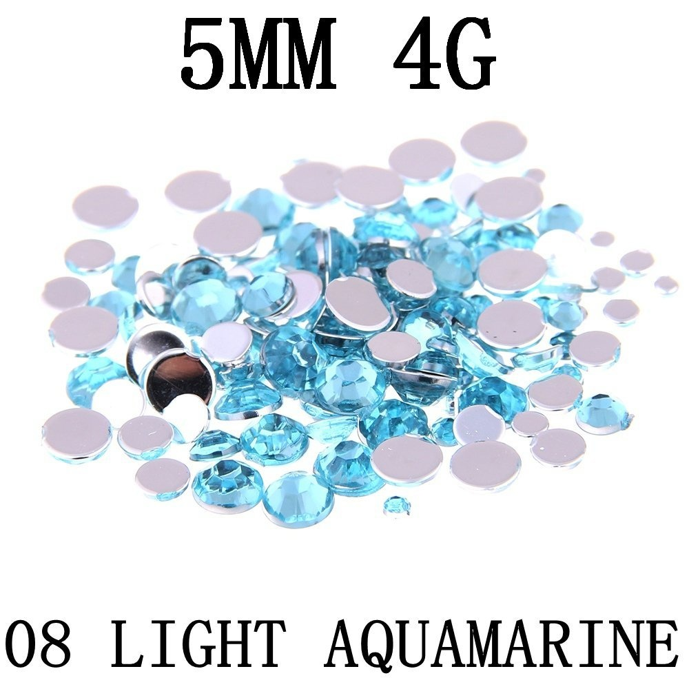 5mm-4g-about-150pcs-Nizi-Jewellery-Light-Aquamarine-Colour-Round-Flatback