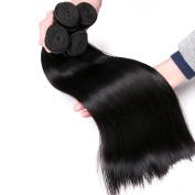 CLAROLAIR 7A Brazilian virgin hair straight 4 Bundlesvirgin Brazilian Straight Hair Bundles Unprocessed Human Hair Weave Extensions Natural Colour (100+/-5g)/pc