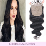 Andria Hair 9A Unprocessed Body Wave Silk Base Lace Closure 4x 4 Virgin Human Hair 3 Part Swiss Lace Closures Bleached Knots 20cm