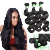 Fashion Lady Hair 9A 100% Unprocessed Peruvian Body Wave Virgin Hair 3Bundles Remy Sexy Weave Huamn Haie Weft Natural Black Colour Mixed Length 60cm 60cm 36cm ,total 300g